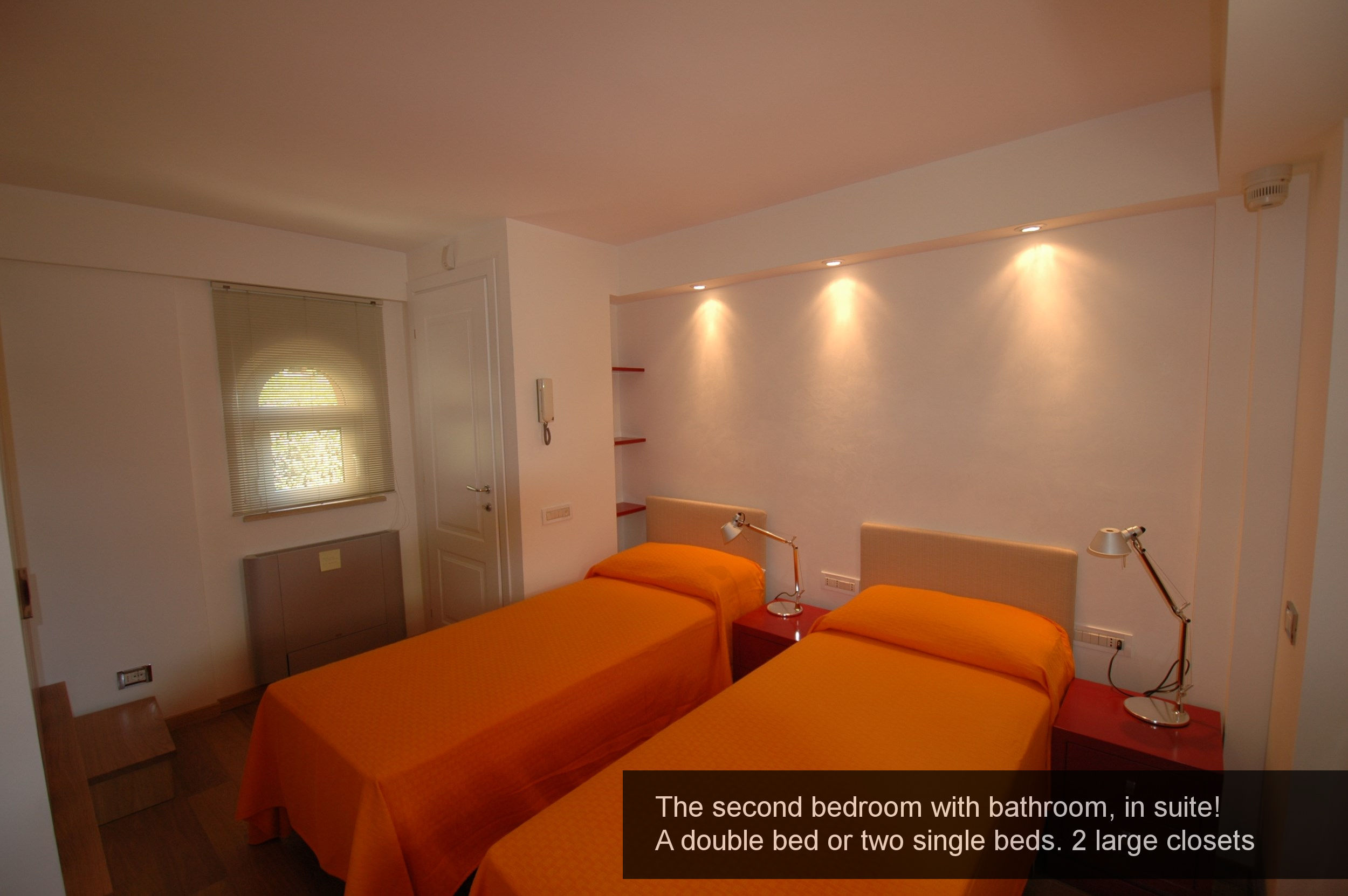 15) second bedroom with bathroom, in suite! A double bed or two single b...