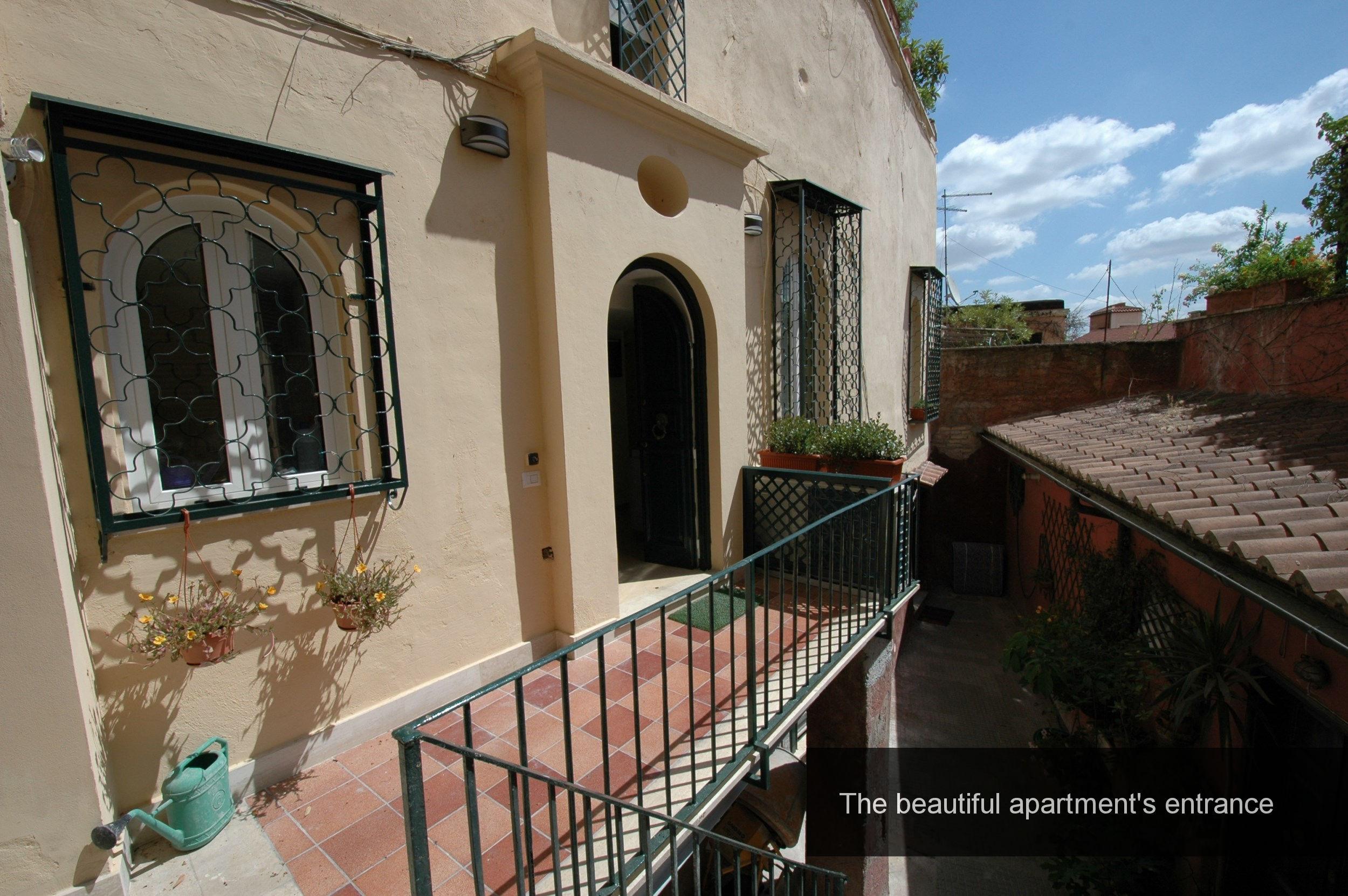 2) beautiful apartment entrance