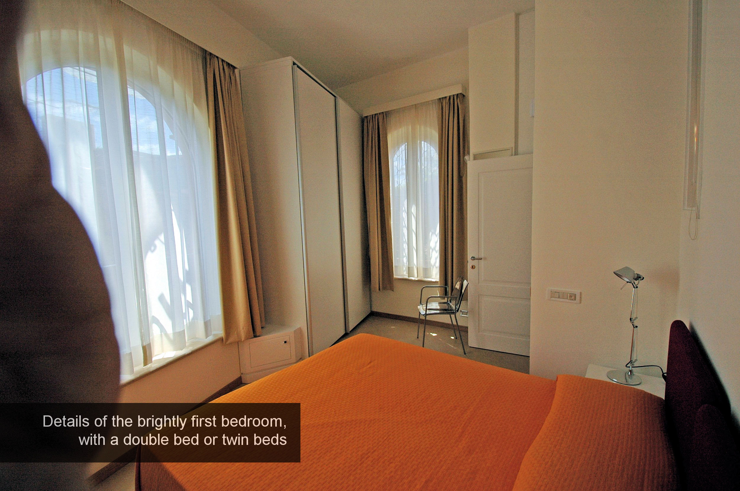 4) details of the first double bedroom, or twin